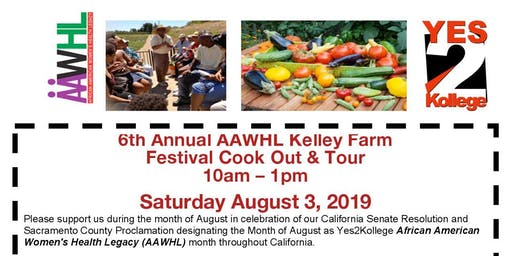 6th Annual AAWHL Kelly Farm Festival Cook Out & Tour