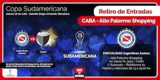 PARCIALIDAD ARGENTINOS JRS. - PARA RETIRAR EN ALTO PALERMO - ARGENTINOS vs COLÓN
