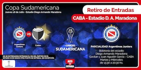 PARCIALIDAD ARGENTINOS JRS. - PARA RETIRAR EN ESTADIO DE ARGENTINOS JRS - ARGENTINOS vs COLÓN entradas