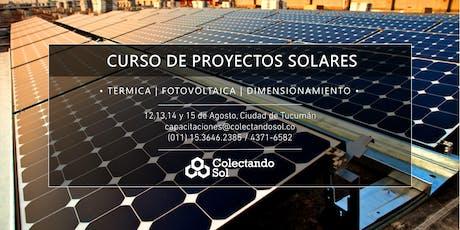 Curso de Proyectos Solares Tucuman/ Agosto 2019 entradas