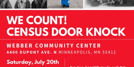 We Count! Census Door-knock tickets