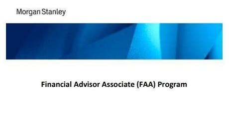 Morgan Stanley Financial Advisor Associate (FAA) Program tickets