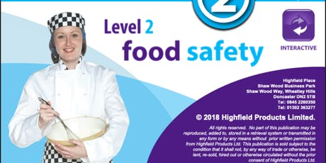 Highfield Level 2 Award in Food Safety in Catering (RQF) tickets