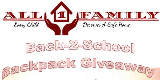 All1Family presents Back-2-School Backpack Giveaway (LGBTQ Family Friendly)
