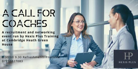 A Call for Coaches and Networking tickets
