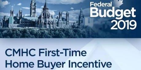 精英学堂讲座系列:如何利用联邦政府2019年激励政策帮助首次购房者买房? tickets