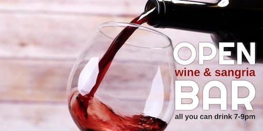 FREE OPEN WINE & SANGRIA BAR
