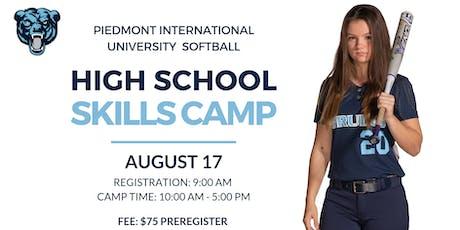 Piedmont International University Softball Camp tickets