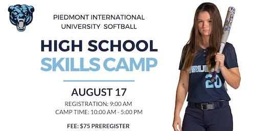 Piedmont International University Softball Camp