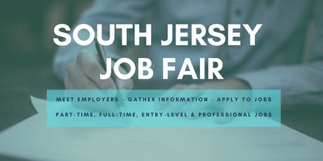 South Jersey Job Fair - August 20, 2019 Job Fairs & Hiring Events in Cherry Hill, NJ tickets