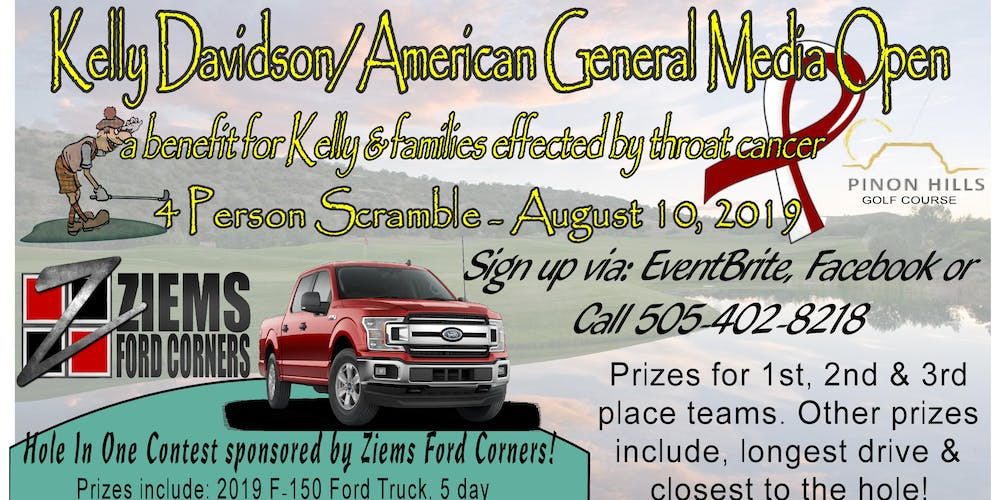 Ziems Ford Farmington New Mexico >> Kelly Davidson American General Media Open For Throat Cancer