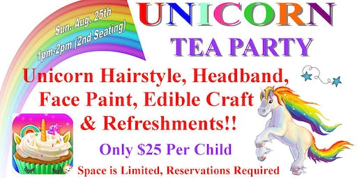 Unicorn Tea Party- 2nd Seating-SOLD OUT