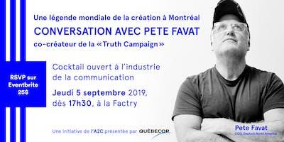 Conversation avec Pete Favat
