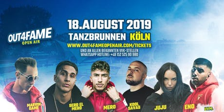 Mero @ Out4Fame Open Air - 18.08. Tanzbrunnen Köln Tickets