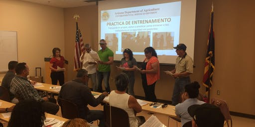 AZ WPS-Curso de Capacitación para Entrenadores de Seguridad en Pesticidas