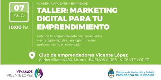 """AAE en Emprendedores VL- Taller de """"Marketing digital para tu emprendimiento""""- Vicente López, Buenos Aires"""