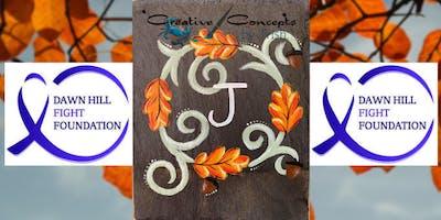 Fall Wreath Slate Paint Night