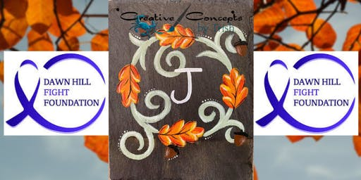 Fall Wreath Slate Paint Night