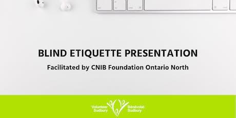 Blind Etiquette Presentation tickets