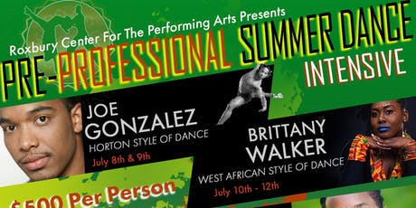 PRE-PROFESSIONAL SUMMER DANCE INTENSIVE tickets
