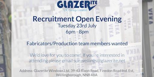 Glazerite Recruitment Open Evening