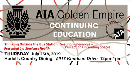July 2019 | AIAGE CONTINUING EDUCATION LUNCH & LEARN | Hodel's Country Dining