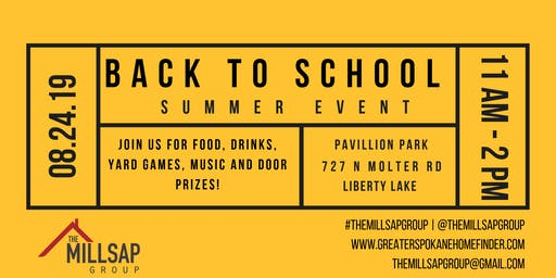 The Millsap Group Back to School Event