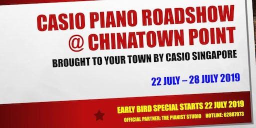 Casio Digital Piano Keyboard Roadshow @ Chinatown Point 22 July – 28 July 2019