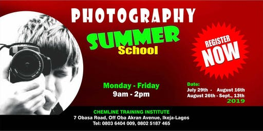 SUMMER SCHOOL - PHOTOGRAPHY