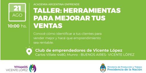"""AAE en Emprendedores VL - Taller """"Herramientas para mejorar tus ventas"""" - Vicente López, Buenos Aires"""