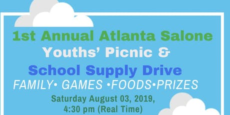 1st Annual Atlanta Salone Youths' Picnic & School Supply Drive tickets