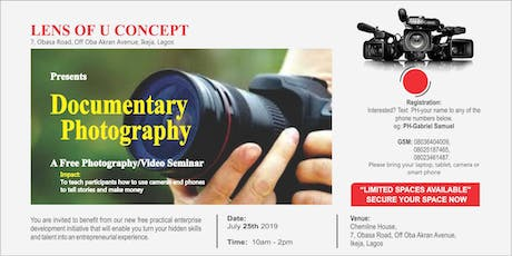 SEMINAR ON DOCUMENTRY PHOTOGRAPHY & VIDEOGRAPHY tickets