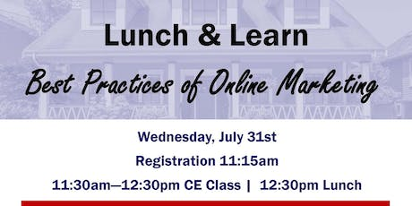 FREE 1hr. C.E. Class - Best practices of Online Marketing tickets