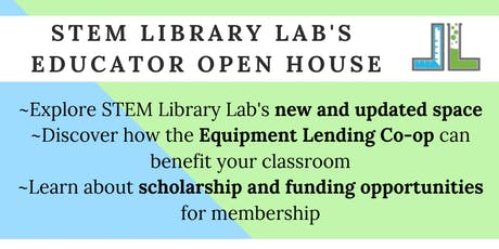 STEM Library Lab Educator Open House July 23 or 24 tickets