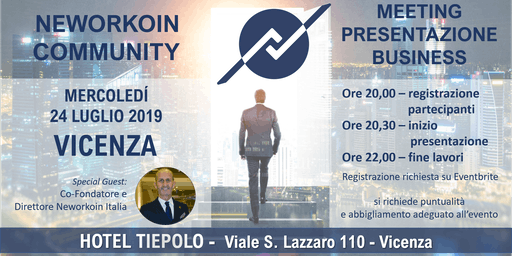 MEETING PRESENTAZIONE BUSINESS - NEWORKOIN COMMUNITY - VICENZA