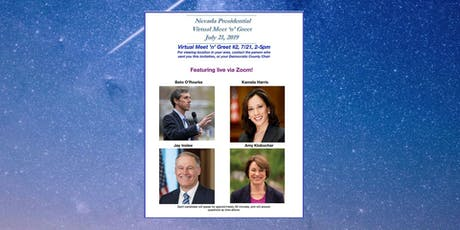 Presidential Virtual Meet 'n' Greet #2  Sunday July 21 2-5pm tickets