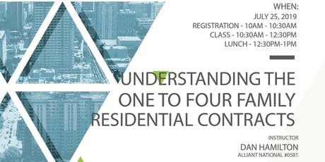 Understanding the One to Four Family Residential Contracts tickets