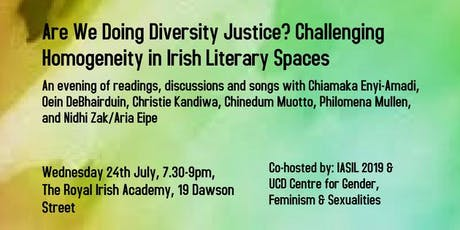 Are We Doing Diversity Justice? Challenging Homogeneity in Irish Literary Spaces tickets