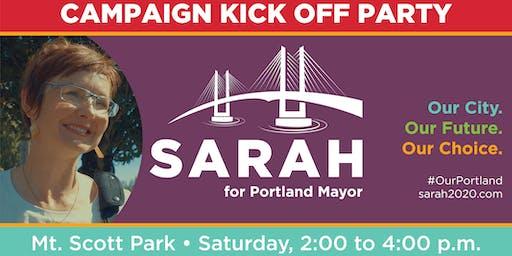 Sarah 2020 Campaign Kick Off
