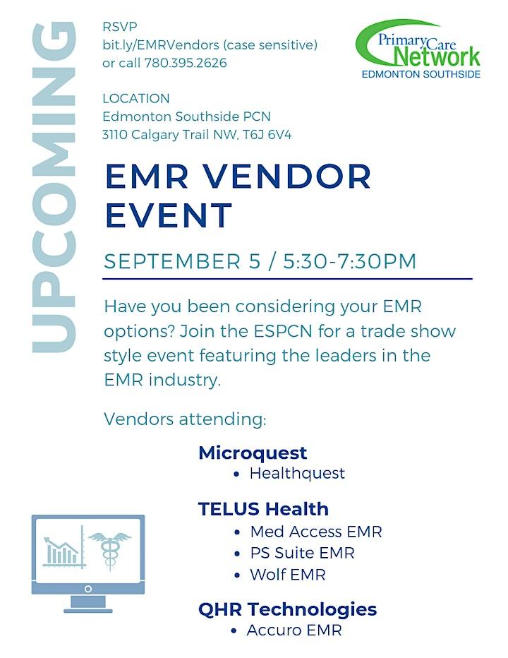 EMR Vendor Event hosted by Edmonton Southside PCN image