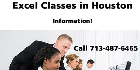 Microsoft Excel Training in Houston, Texas - Information only! Call 7/487-6465 tickets
