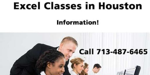 Microsoft Excel Training in Houston, Texas - Information only! Call 7/487-6465