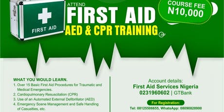 FIRST-AID, AED CPR CERTIFICATION TRAINING tickets