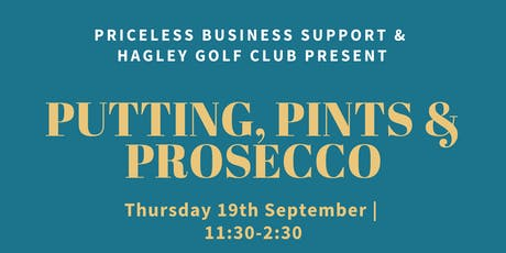 Putting, Pints and Prosecco tickets
