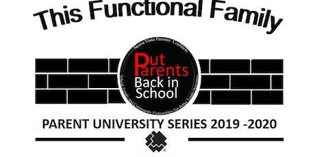 Parent University Mini-Conference tickets