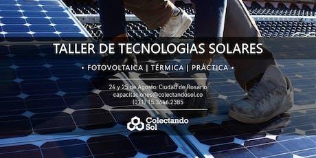 Taller de Tecnologías Solares // Rosario Agosto 2019 entradas