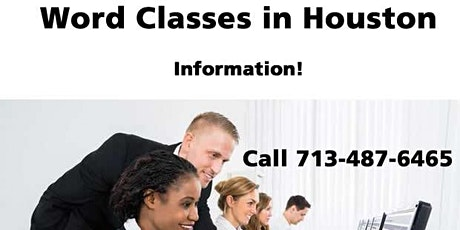 Microsoft Word Training in Houston, Texas - Information only! Call 7/487-6465 tickets