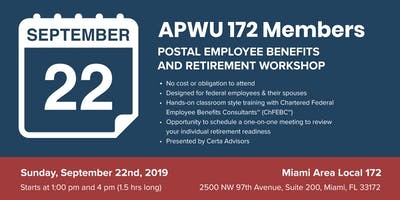 APWU Local 172 Retirement Workshop in Miami, FL
