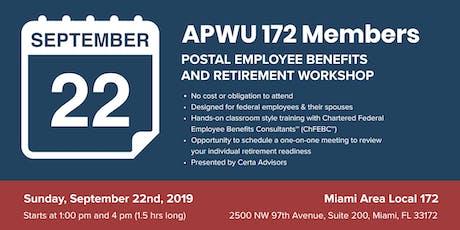 APWU Local 172 Retirement Workshop in Miami, FL tickets
