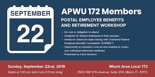 APWU Local 172 Retirement Workshop in Miami, FL
